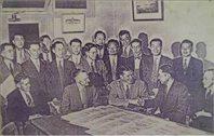 1946年中美设计人员在丹佛商讨三峡设计工作(三峡总公司)